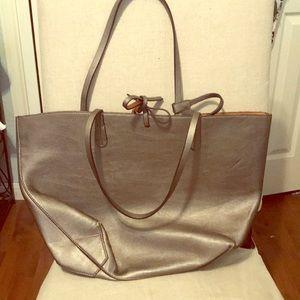 ZARA Metallic Tote Bag